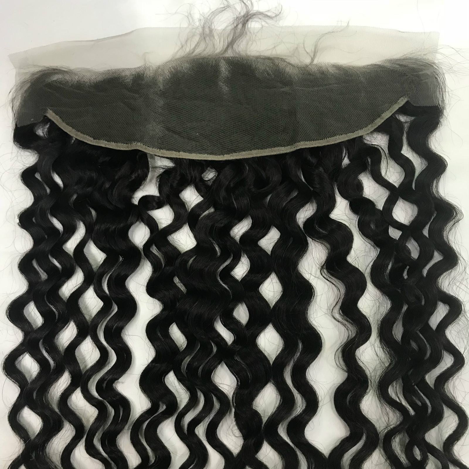 italian curly(water wave) closure,frontal